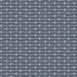 Slate Grey and White Stripped Pattern with Arrow & Digital Print Fabric