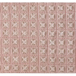 Lucknowi Geometric Embroidery & Viscose Georgette Fabric