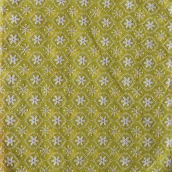 Died Floral Lucknowi Embroidery & Digital Print Fabric