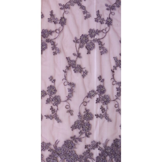 Fancy Floral Embroidery & Butter Net Fabric