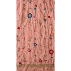 Exclusive Floral  Embroidery with Moti & Vatsala Silk Fabric