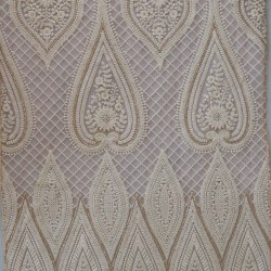 Lucknowi Embroidery & Butter Net Fabric