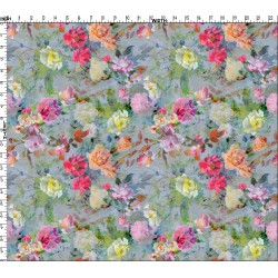 Multicolor Floral design and Digital Print Fabric