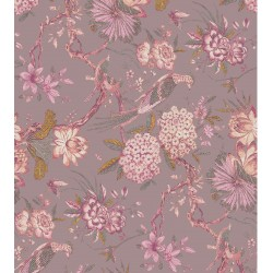 Taupe and Bisque Cilico Floral Pattern & Digital Print Fabric