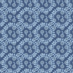 Pale Blue and Grey Warli Design and Digital Print Fabric