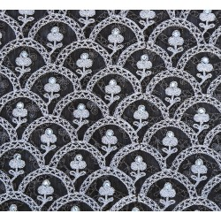 Exclusive Floral  Embroidery & Butter Net Fabric