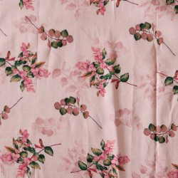 Peach and Pink Floral Design & Digital Print Fabric
