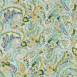Green and Yellow Paisely Pattern & Digital Print Fabric