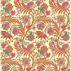 Red, Green and Pink Liberty Floral Pattern & Digital Print