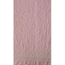 Lucknowi Floral Embroidery & Pure Muslin Fabric