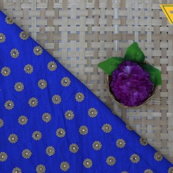 Dior Blue & Gloden Embroidery Fabric